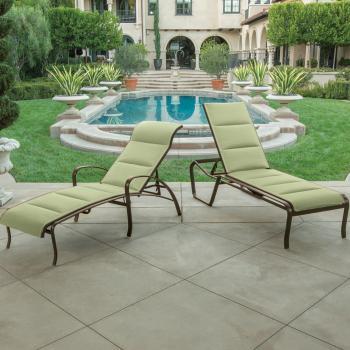 outdoor modern padded sling furniture